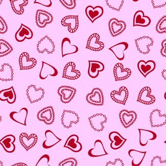 Hearts Red/Pink